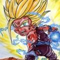 Fan Art Dragon Ball Z - Chibi Gohan 01-ssj2