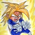 Fan Art Dragon Ball Z - Chibi Trunk 01-ssj1