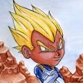 Fan Art Dragon Ball Z - Chibi vegeta 01-ssj1