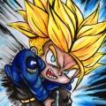 Fan Art Dragon Ball Z - Chibi  Trunk 02 - ssj1