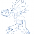Dragon Ball Z - Gohan adolescent super sayan 2 - croquis