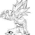 Dragon Ball Z - Gohan adolescent super sayan 2 - encrage