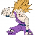 Dragon Ball Z - Gohan adolescent super sayan 2 - Couleur