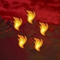 Drekki - Dos Carte dragons 5 flammes