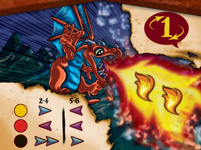Drekki - Carte dragons 2 flammes