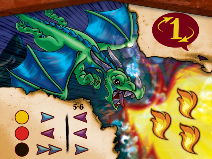 Drekki - Carte dragons 3 flammes