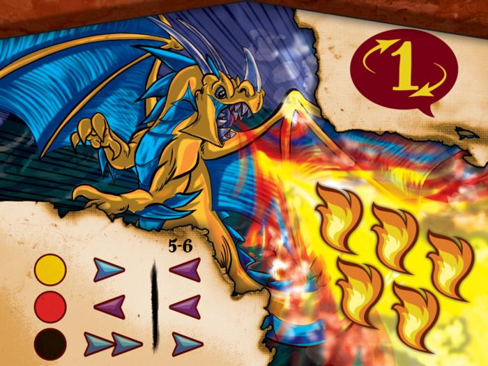 Drekki - Carte dragons 5 flammes
